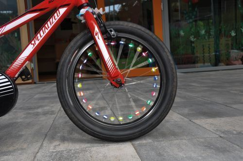 36 Stück  Kinderfahrad Rad 130212 Speichenklicker mit Reflektoren