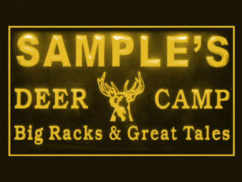 270012 Deer Camp Personalized Your Text Display LED Light Sign