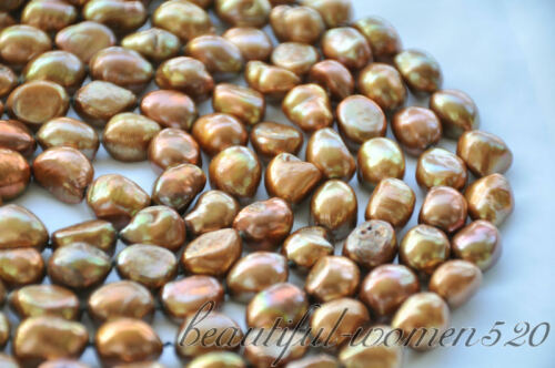 Z6652 Long 14 mm café Baroque FRESHWATER PEARL NECKLACE 100 in environ 254.00 cm