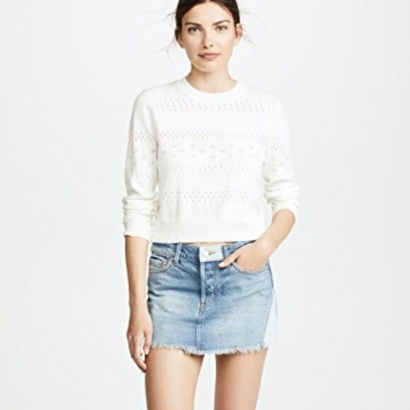 Free People Patched Mini Skirt Denim Size 29