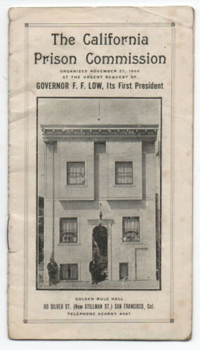 1910 Booklet on the California Prison Commission Building in San Francisco CA