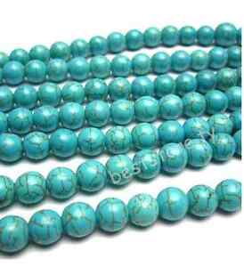One-Strand-16-034-6mm-Howlite-Turquoise-Gemstone-Round-Beads-Free-Ship