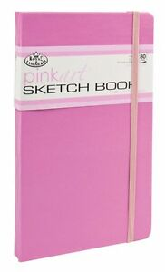 HARD BACK PINK COVER SKETCHING DRAWING ARTIST BOOK PAD 100GSM ACID FREE PAPER