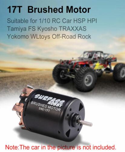 SURPASS HOBBY 540 17T Brushed Motor Balck for HSP HPI 1//10 Tamiya WLtoys RC Car
