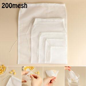 Colander Wine Strainer Cheese cloth Coffee Filter Nylon Fine Mesh Nut Milk Bag