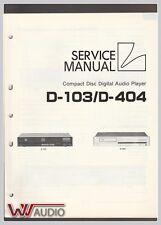 Luxman D-103/D-404 CD Player Service Manual