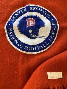 Pendleton-Stadium-Blanket-1970s-Wool-NFL-Denver-Broncos-72-x46-Licensed