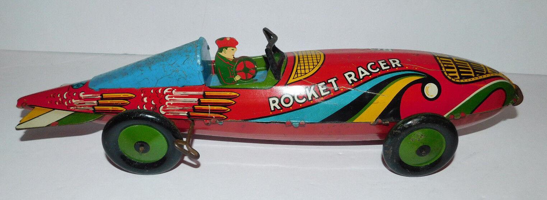 apresurado a ver Vintage Vintage Vintage muy aseado Marx Rocket Racer 16  largo Estaño Wind Up coche  mejor calidad
