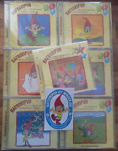 Hatschipuh-Alle-8-CDs-Folge-1-bis-7-Geburtstags-CD-Aufkleber-als-Extra