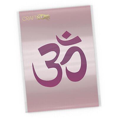 CraftStar Om Mandala Stencil Size 17.5 cm Yoga Mandala Craft Template