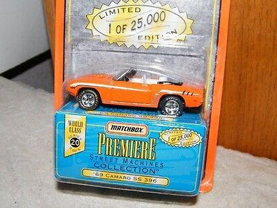 orange ~ NEW ON CARD Details about  /Matchbox Premiere Street Machines ~ /'69 Camaro SS 396