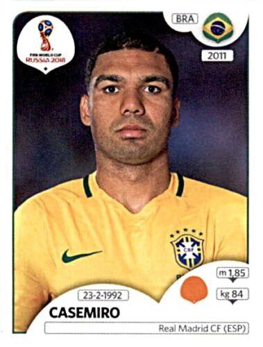 Panini Fifa World Cup 2018 Russia Sticker 364 Casemiro Brasilien