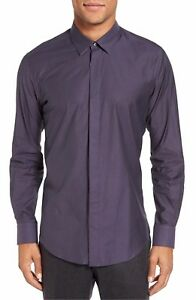Pal Zileri  Men's Sport Shirt Sz 42 EU/ 16 1/2 US NWT Purple
