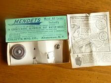"""Vintage Advertizing """"Mendets"""" Box with Mendets, Tinkers Dams"""