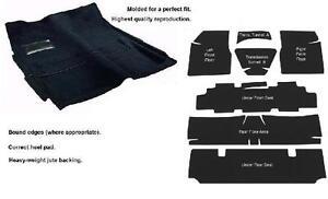 ACC 68-72 GM A-BODY 2-DR AUTOMATIC *BLACK* MOLDED CARPET RUG W// SOUND DEADENER