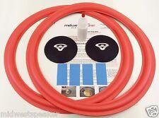 """Cerwin Vega E-315 15"""" Woofer Foam Speaker Repair Kit w/ 3.75"""" CV Logo Dust Caps!"""