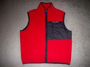 51fcdaeefb1 Mens Vintage POLO JEANS CO. by RALPH LAUREN Fleece Vest M RED ...