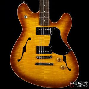 Nouveau FANO ALT personnalisée DE FACTO GF6 new old stock Semi-Hollow Guitar TOBACCO BURST LOLLAR