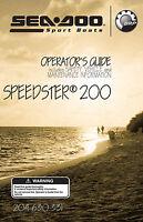 Sea-doo Speedster 200 & Speedster Bv, 2005 Owners Manual Paperback Free Shipping