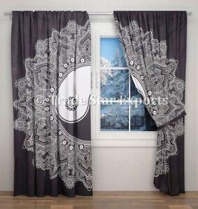 Image Is Loading Indian Yin Yang Mandala Curtains Boho Black And