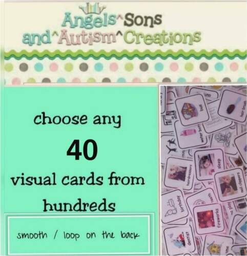 Choose your own visual cards to suit ~ AUTISM non verbal communication //PECS