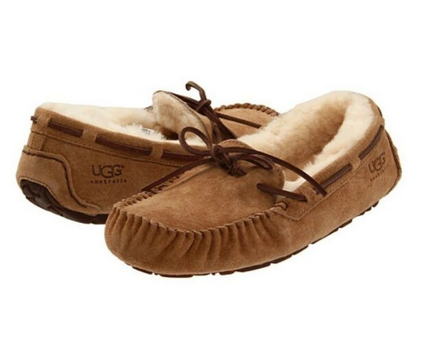 0724dab968c UGG Women Dakota 5612 Moccasin Slipper in CHESTNUT Sz 5-12 NEW w/ Box