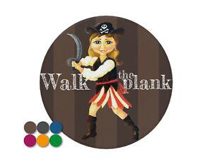 Walk-The-Plank-girl-pirate-pin-badge-7-7cm-diameter-Background-choice