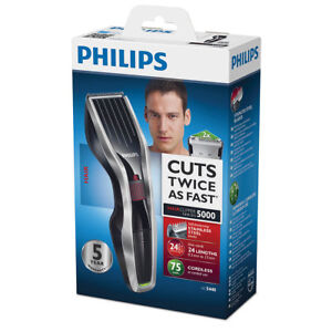 Philips-HC-5440-16-Batterie-tondeuse-a-Cheveux-a-barbe-poils-de-nez-DualCut