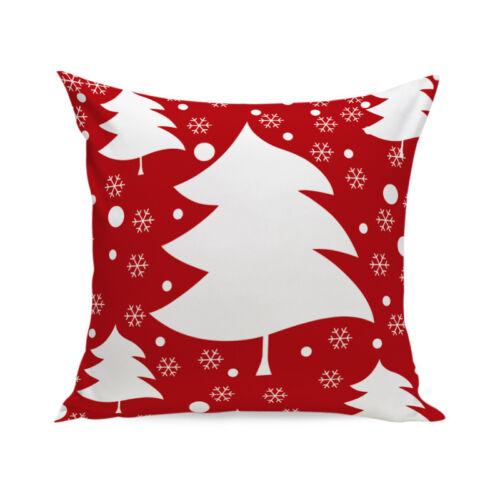 Cotton Linen Christmas Deer Pillow Case Cushion Cover Soft Sofa Home Car Decor