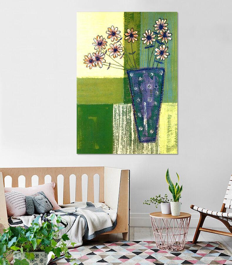 3D Frische blaue Vase 36 Wandbild Fototapete Bild Tapete Familie AJSTORE DE