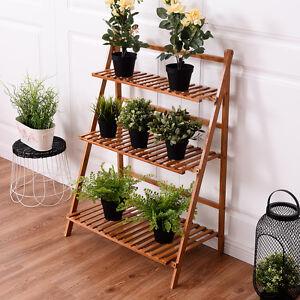 Etonnant Image Is Loading Folding 3 Tier Bamboo Flower Plant Pot Herb