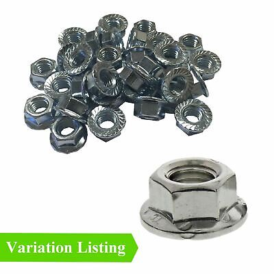 Hex Nut 8mm Bright Zinc Plated 10 x Serrated Flanged Nuts M8 x 1.25mm Pitch