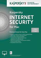 Kaspersky Internet Security - für MAC - 1 Jahr - DE/EN/FR +  Multilingual - NEU