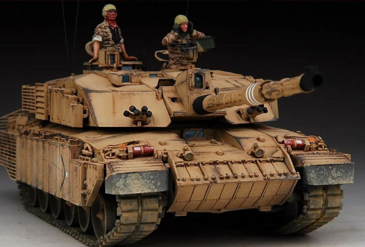 Premio Winner Costruito Trumper 1 35 Chtuttienger II CR2 MBT Enhanced Armor PE Crew