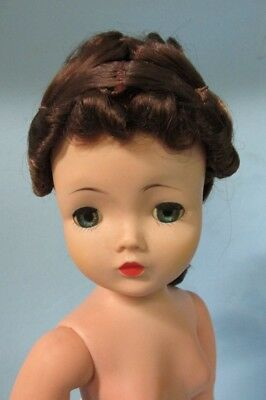 """Nice 20"""" Brunette Cissy Doll to Dress Ponytail needs fixing"""