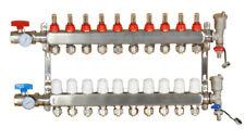 10 Branch Pex Radiant Geothermal Water Divider Floor Heating Manifold Set