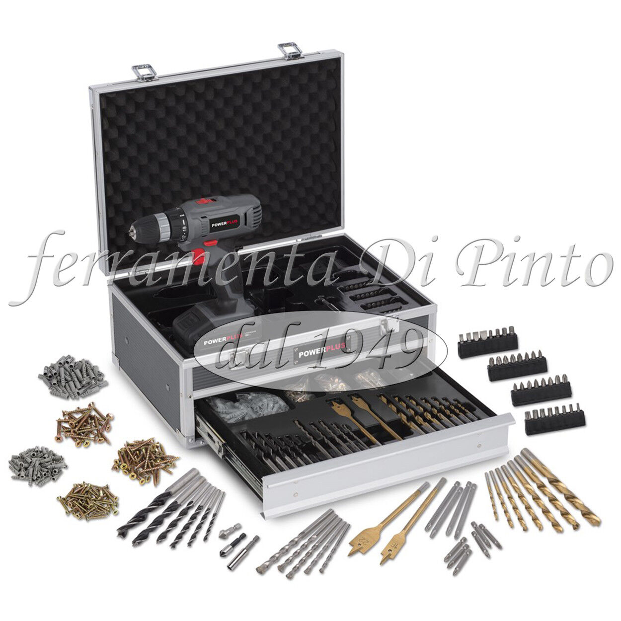 Avvitatore Trapano 2 2 2 Batteria LITIO 18V 1300 mAh 30 Nm REVERSIBILE 275 Accessori 247a2a