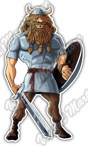 Viking Funny Scandinavian Warrior Celtic Car Bumper Vinyl Sticker