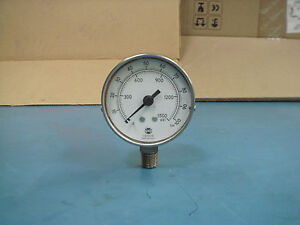 U-S-Gauge-A13-Used-0-1500-psi-Pressure-Gauge