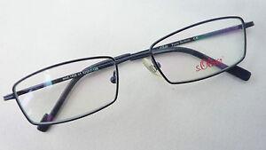 S-Oliver-Unisex-Brille-Brillenrahmen-Metall-Markenware-dunkelblau-mittel-size-M