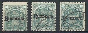 Rhodesia 1941 Sc# 98 overprint variety 10 shillings CV $40 as regular used