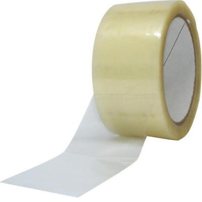 12 rolls strong CLEAR parcel packing sealing STIKKY TAPE 48mm x 66m FAST DELIV.