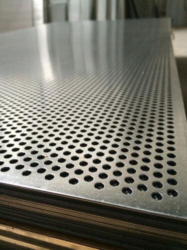 RV 5-8 Lochblech Stahl Verzinkt 1000 mm x Ihre Wunschlänge x 1,0mm Neu Ware