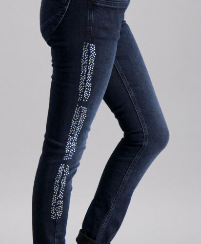 scuro Star Lucky w28 strass blu New blue Nina Jeans Gr Twilight 6dnx1CvqdF