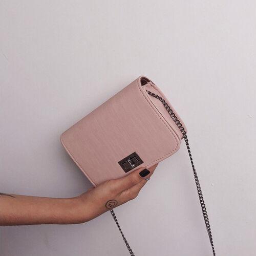 Women Shoulder Bag PU Buckle Textured Casual Chain Fashion Small Crossbody Bag
