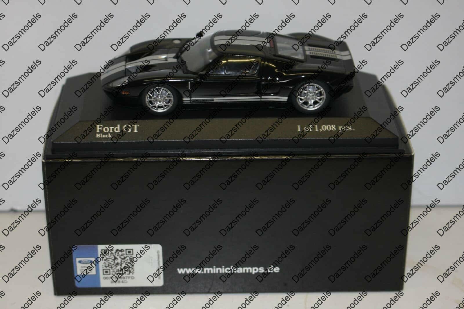 Minichamps ford gt 2006 noir échelle 1 43 diecast 400 084204