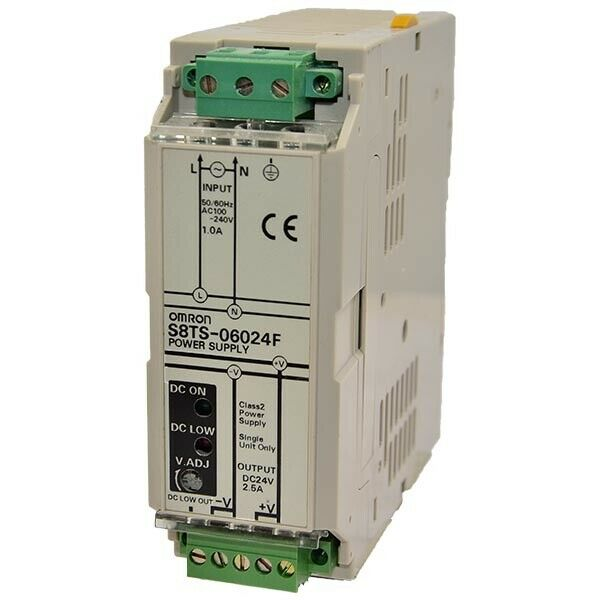 FRESH TAKEOUT OMRON S8TS-06024F POWER SUPPLY 2.5A 24 VDC 189