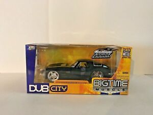 JADA-BIGTIME-MUSCLE-DUB-CITY-1963-CHEVY-CORVETTE-STING-RAY-DIECAST-CAR-1-24