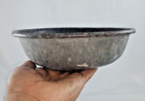 VINTAGE-OLD-IRON-HAND-FORGED-PET-FEEDING-BOWL-INDIA