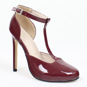 Women-Sandals-Round-toe-High-Heels-Stilettos-Party-Dress-Ladies-Pumps-Shoes